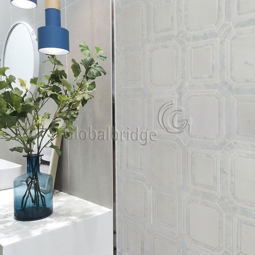 This stunning truly unique waterjet stone mosaic provides an elegant pure and inimitable lookyou will fall in love with for home decor New Series of Global Bridge