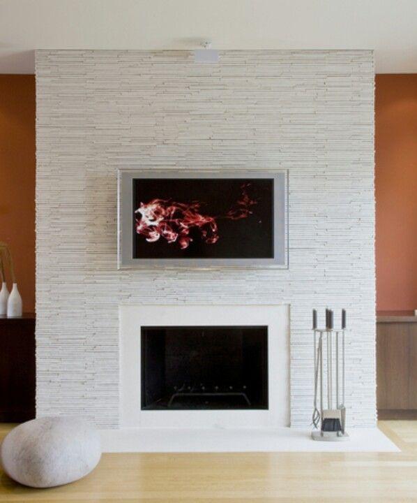 Stacked quartz fireplace - Stacked Quartz Fireplace Pueblo Living/Dining Pinterest
