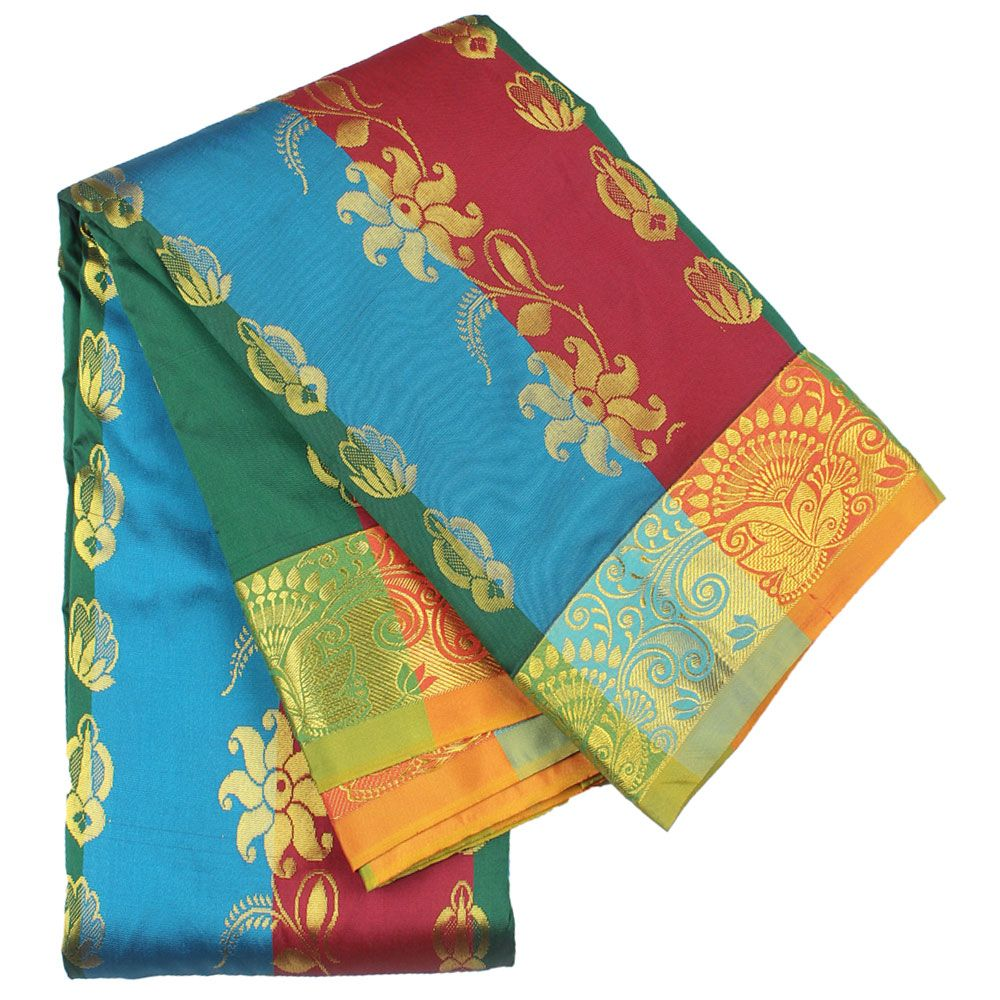 Latest Kanchipuram AU0218 Multi Colour Silk Saree At affordable price only at  http://www.discountsvu.com/buy/kanchipuram-au0218-multi-colour-silk-saree/?fbpost  And Various Kanchipuram Sarees At http://www.discountsvu.com/buy/silk-sarees/?p=catalog=catalog=529=1=date