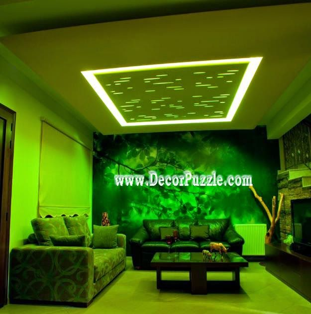 Simple false ceiling pop design for living room plaster for Simple false ceiling designs for living room