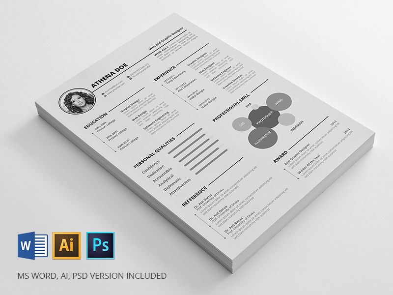 Resume Template Mockup Stationary Resume Template  Stationary