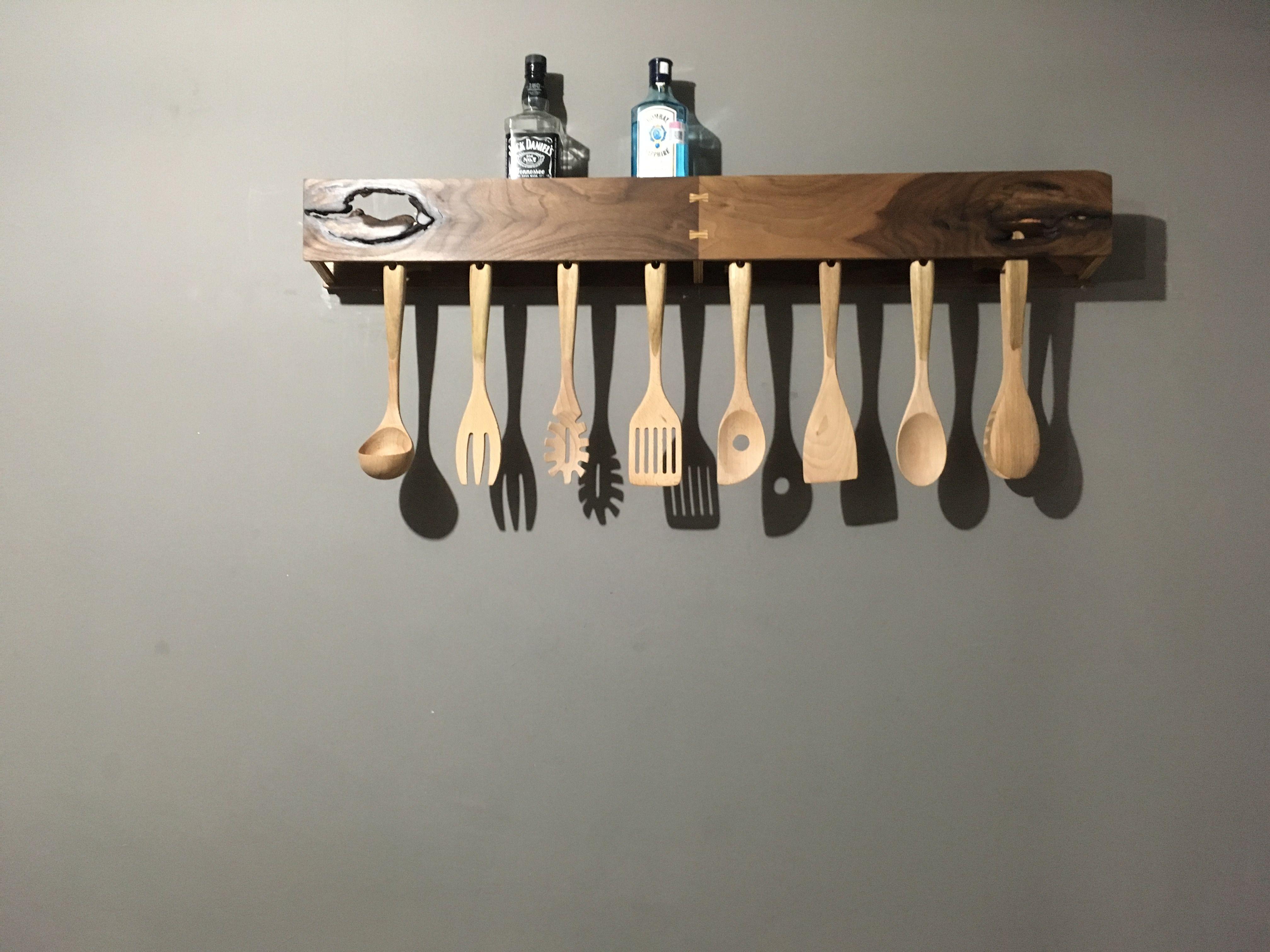 Porta cucharas de madera porta cucharas de madera for Porta cucharas cocina