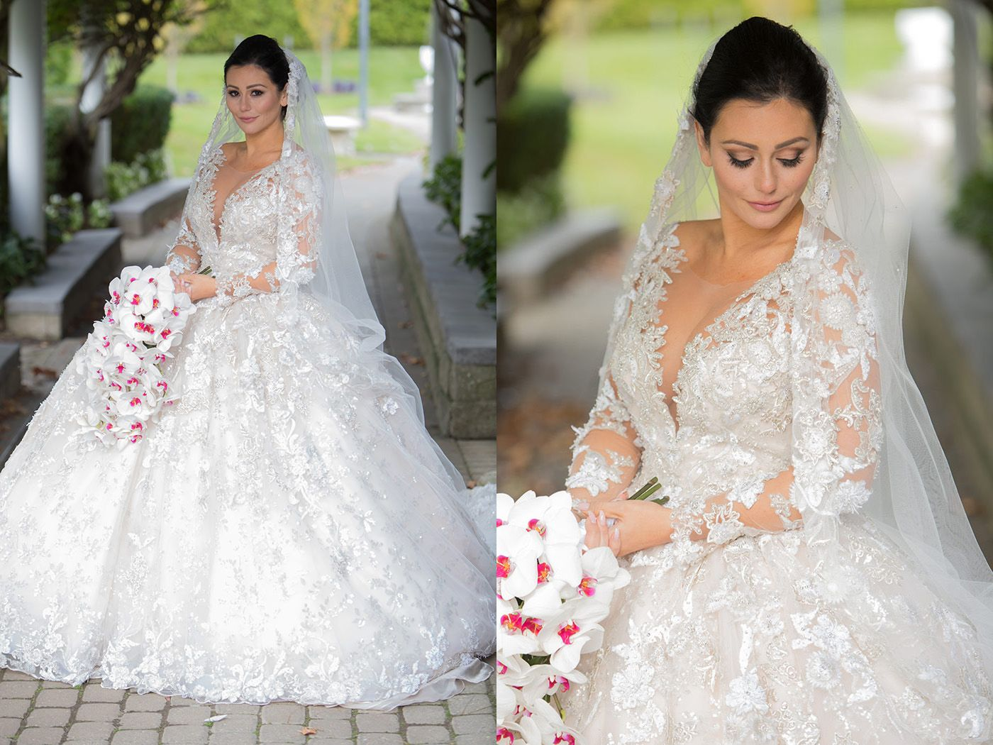 Jenni Jwoww And Roger At Addison Park Celebrity Wedding Dresses Jwoww Wedding Wedding Dress Deals