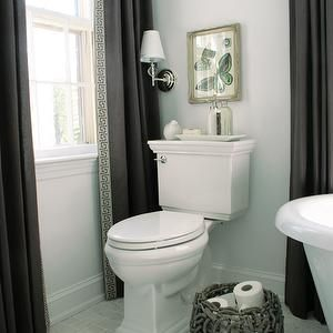rachel bishop designs || bathroom window treatments - long