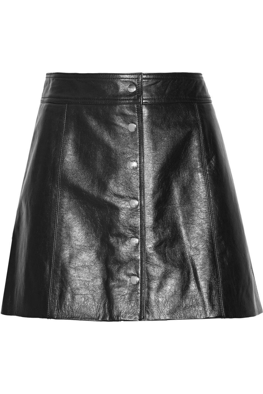 5927afce17a4 ETOILE ISABEL MARANT Kais Leather Mini Skirt. #etoileisabelmarant #cloth # skirt