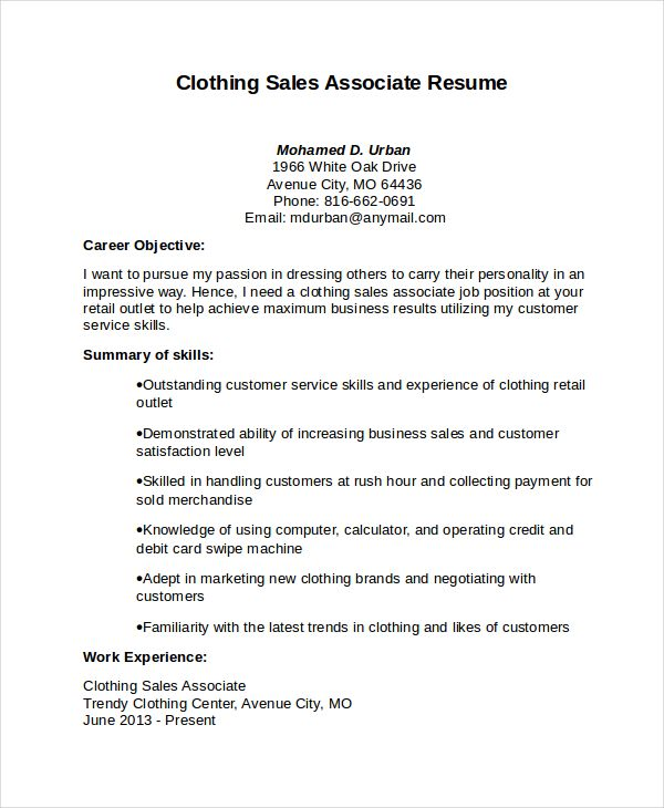 Sales Associate Resume Sales Associate Resume Template Free Word Pdf Document Download