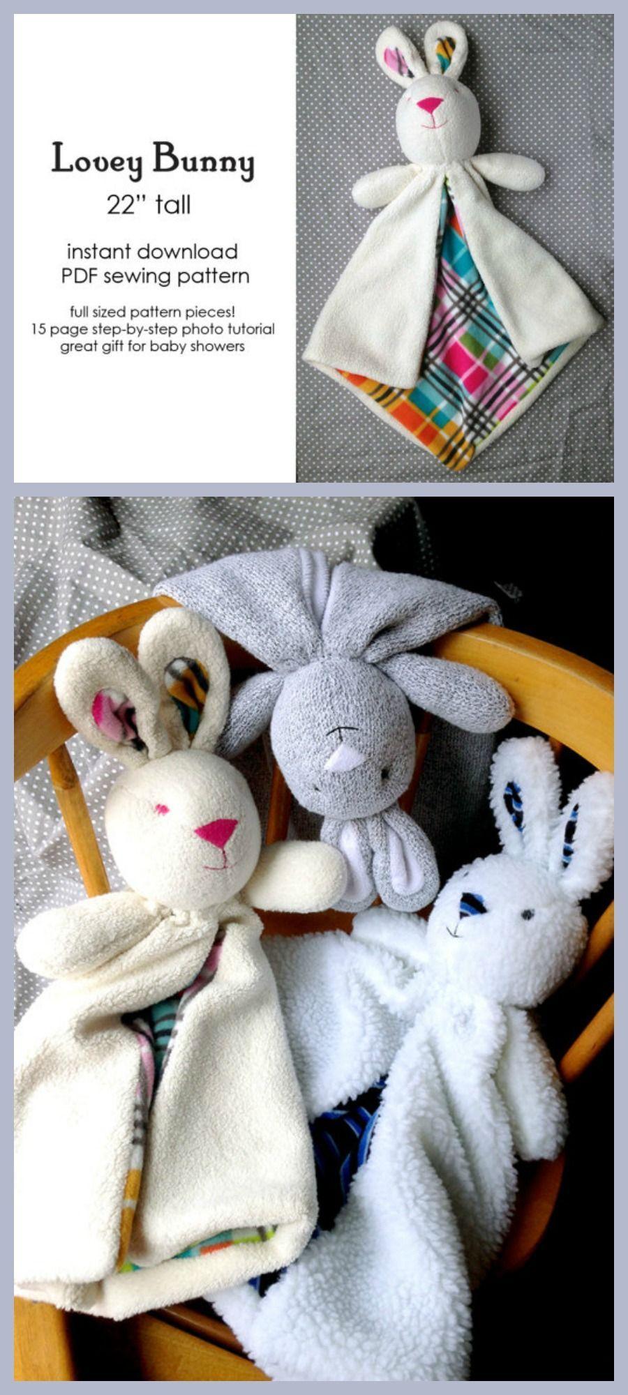 40494930fafb Bunny Lovey Baby Blanket