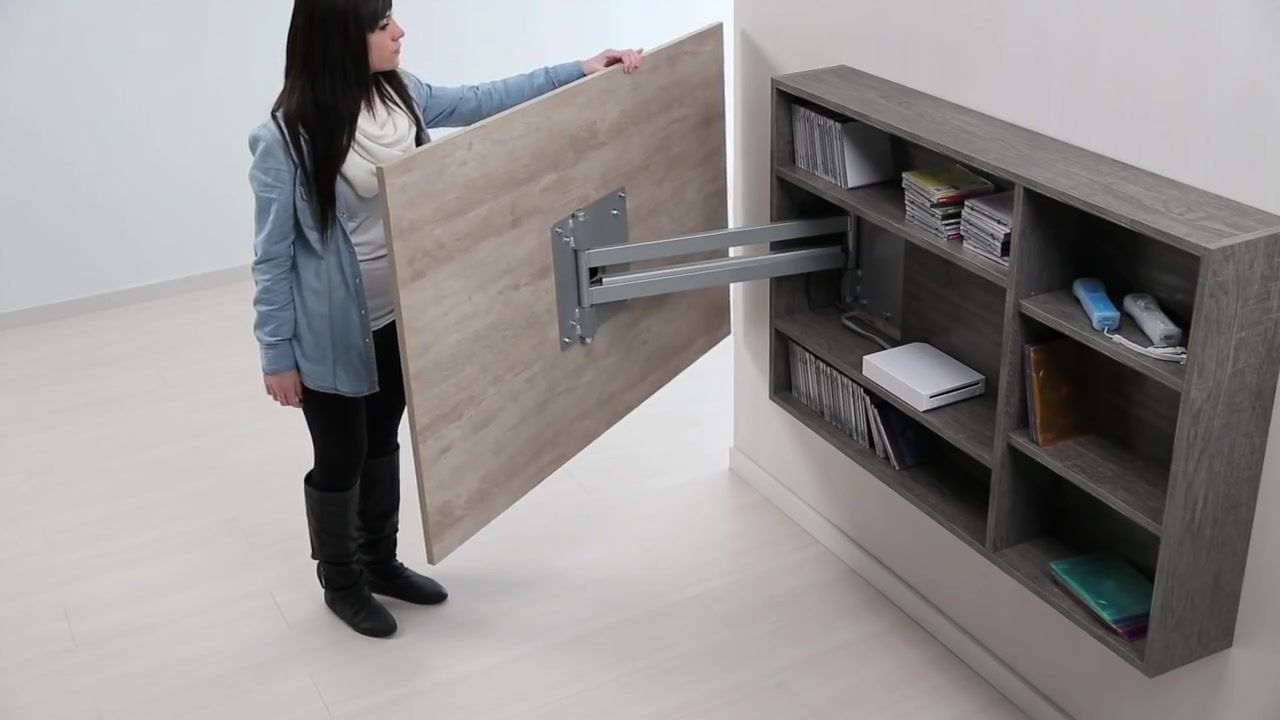 Diseño de muebles para Tv giratorio de melamina | Web del Bricolaje ...