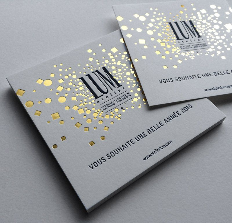 Lum Badcass Foil Block And Letterpress Business Cards Cartes