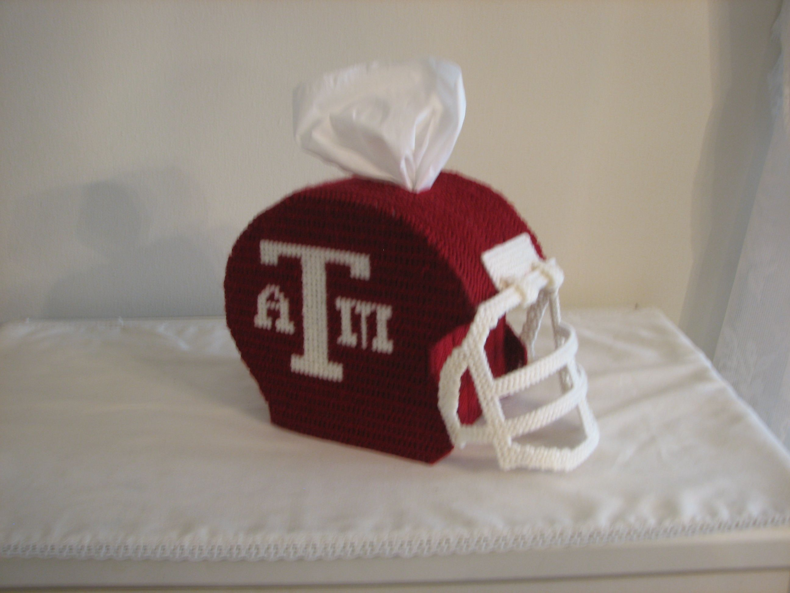 Texas A M Plastic Canvas Tissue Box Cover Plastic