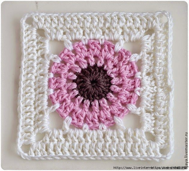 Todo crochet: Un square para principiantes … | Pinteres…