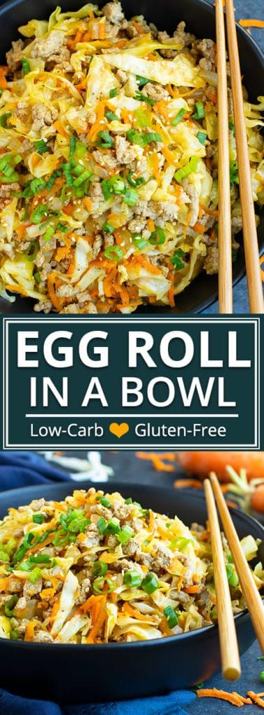 Egg Roll in a Bowl   Keto + Paleo images
