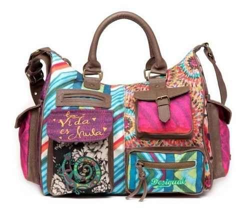Popular classic 2013 desigual canvas big bag vintage one shoulder  cross-body women's handbag Cheap outlet online