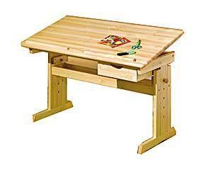 escritorio para nios de madera de pino maciza