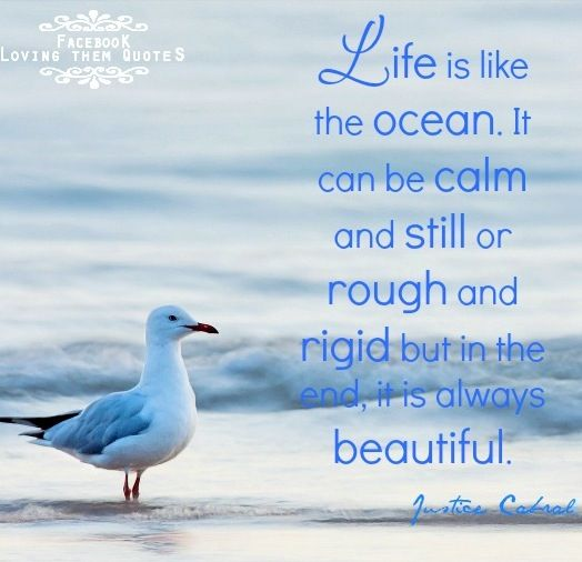 Life Is Like An Ocean Quote Via Loving Them Quotes On Facebook