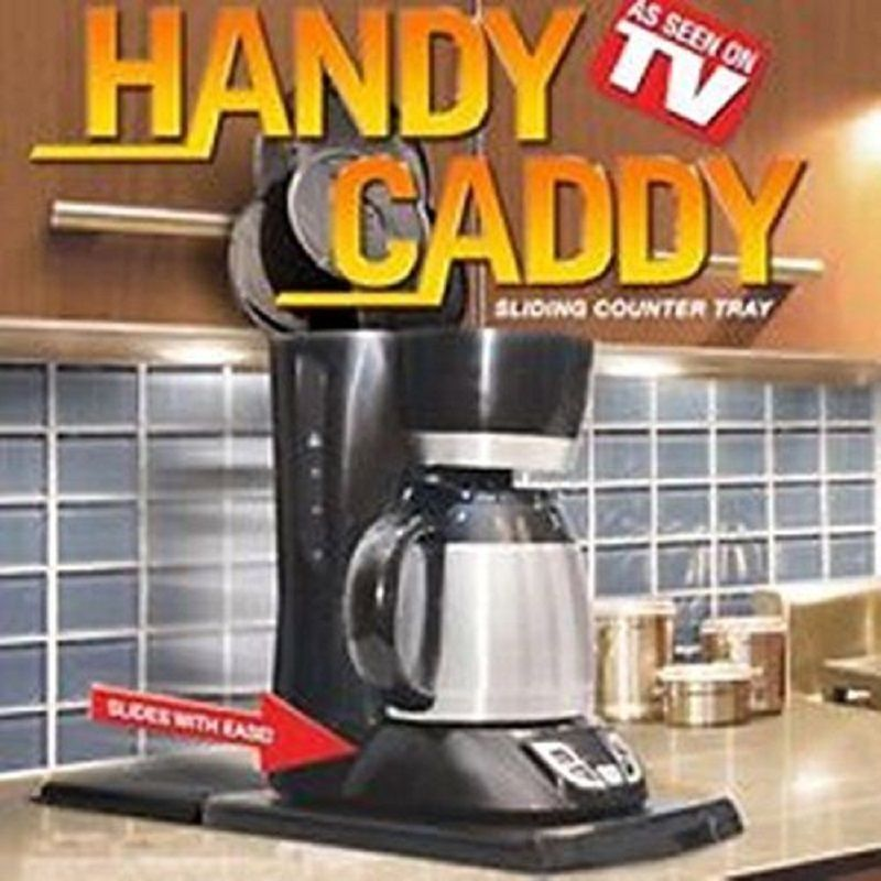 Handy Caddy Sliding Counter Tray Kitchen Under Cabinet Appliances Coffee  Maker #MilenProducts