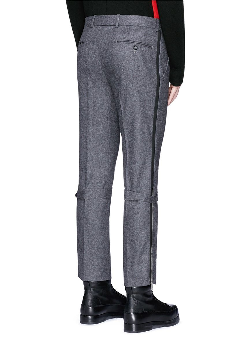Harness wool flannel cropped pants pants pinterest short men