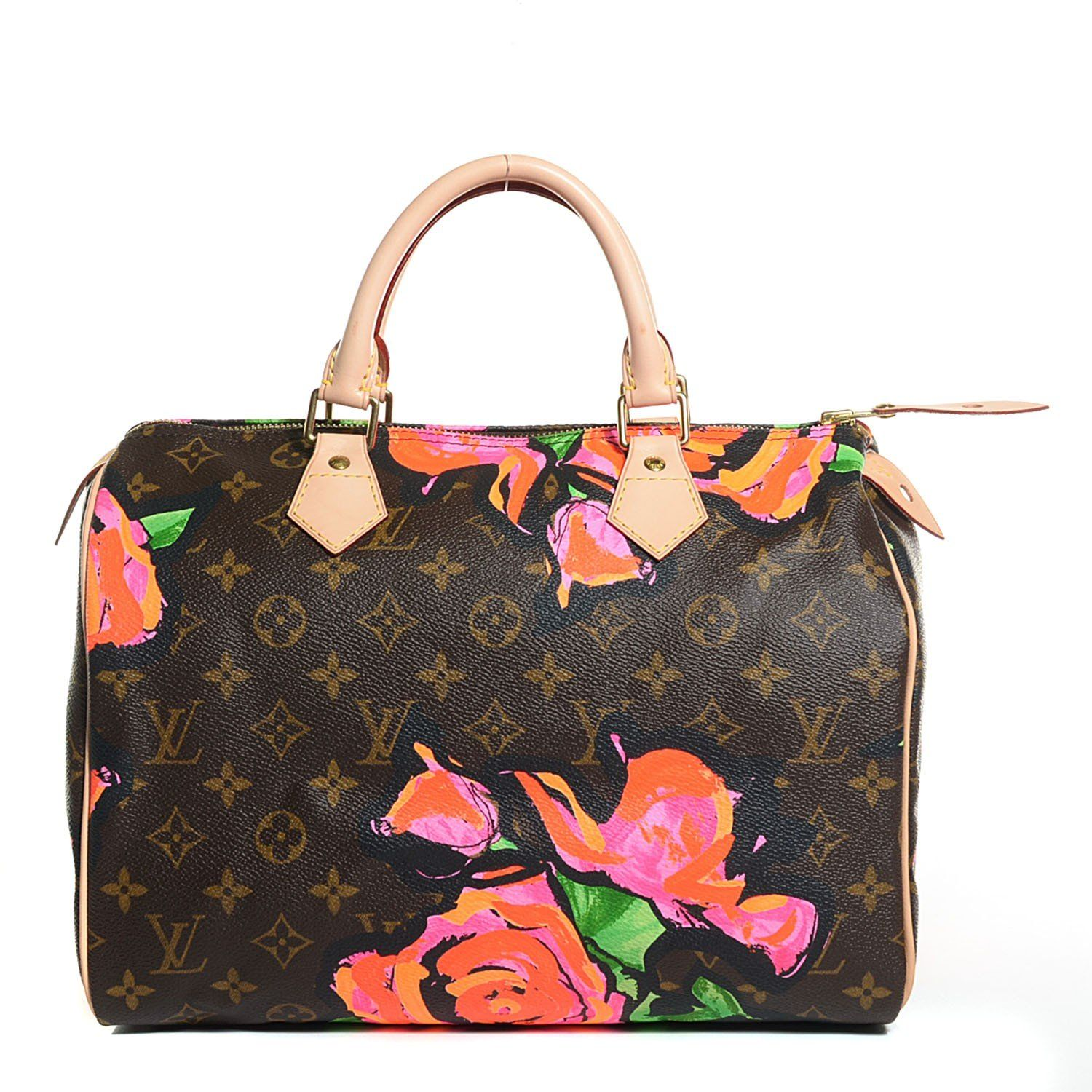 This is an authentic LOUIS VUITTON Monogram Stephen Sprouse Roses Speedy  30. This stylish limited 49a5251db9
