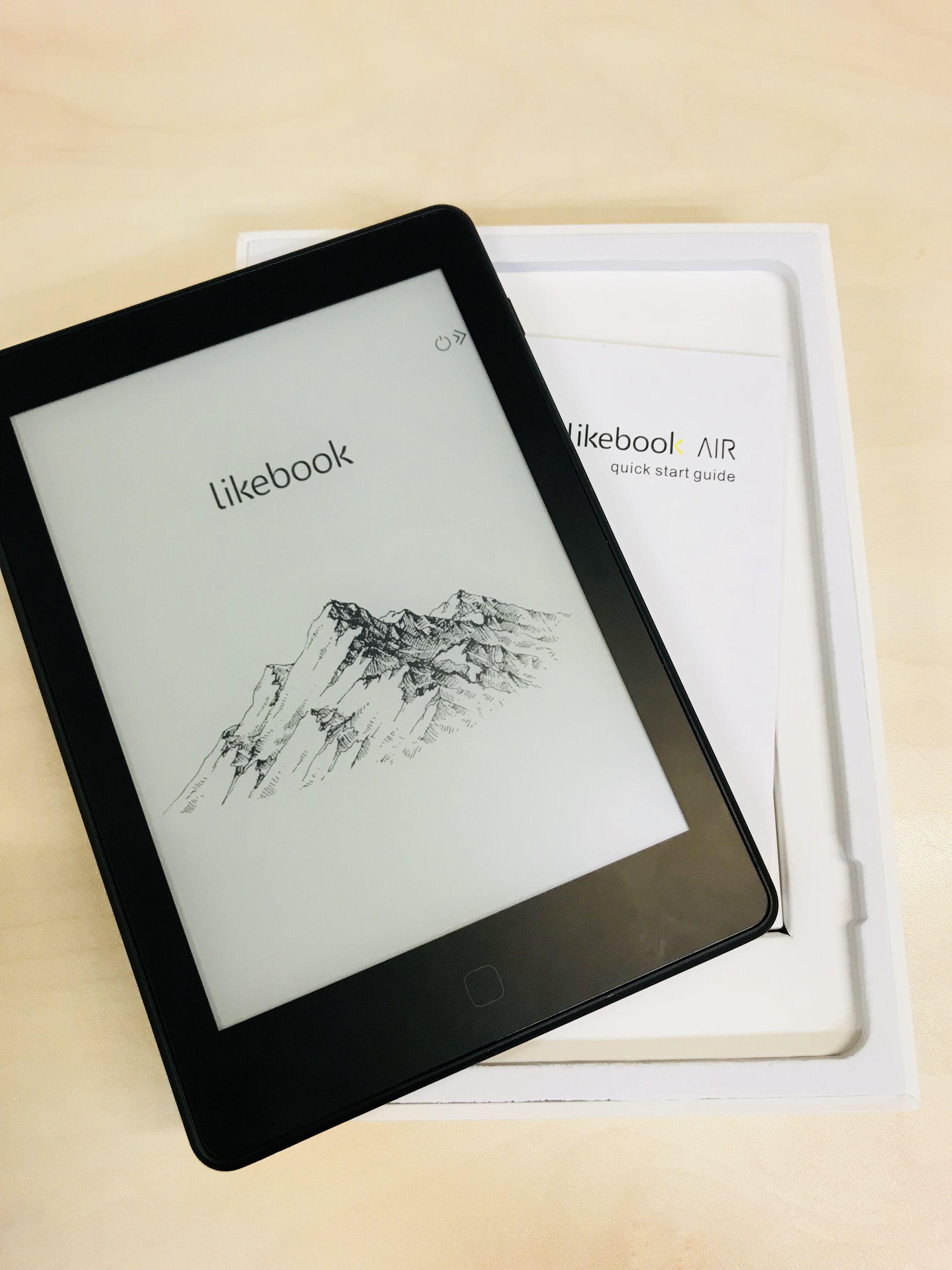 Likebook Air 6 전자 책 리더 1g 16g 300ppi 전자 잉크 카라 평면 유리 커버 렌즈 터치 스크린 프론트 라이트 및 프리 커버 포함 Ebook Reader Ebook Pocket Book