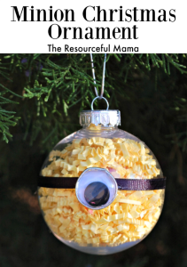 Minion Homemade Christmas Ornament - The Resourceful Mama