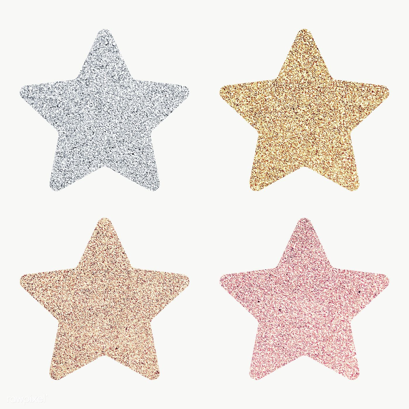 Glitter Star Sticker Set Transparent Png Free Image By Rawpixel