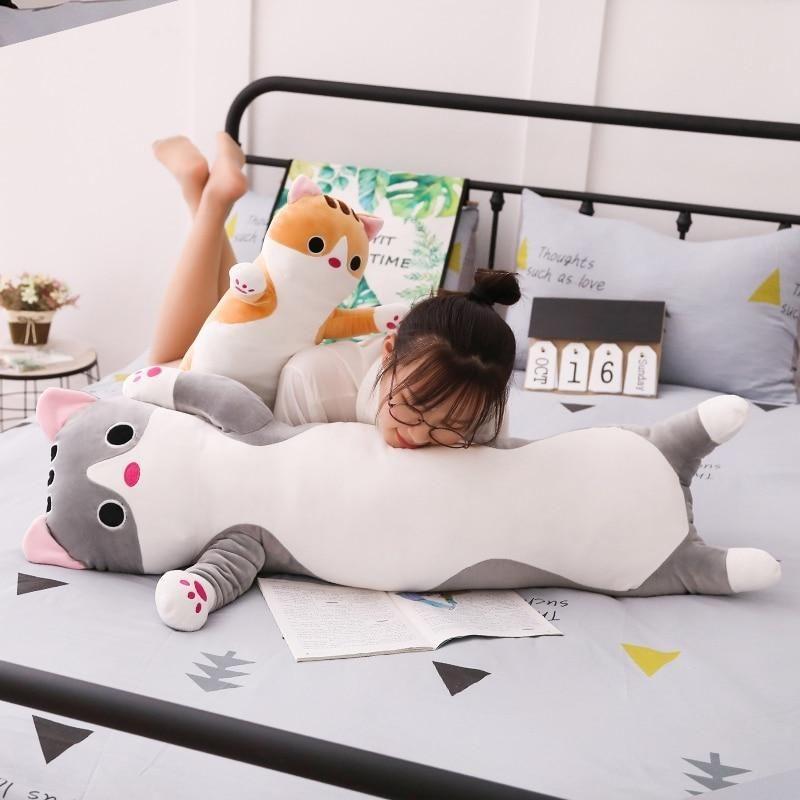 Kitty Hugging Pillow Plush Stuffed Animals Toy Cat Sleeping Pillow Gift to Pick