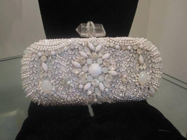 Medium embellished box handbag.
