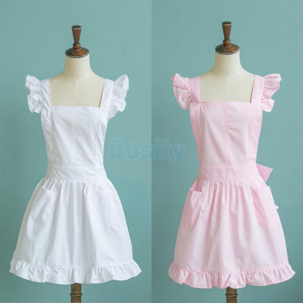 Maid Apron Girls Maid Dress Cosplay Costume Restaurant Coffee Shop ...