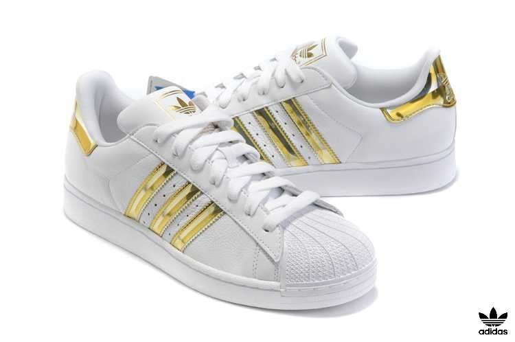 adidas superstar ii white and gold