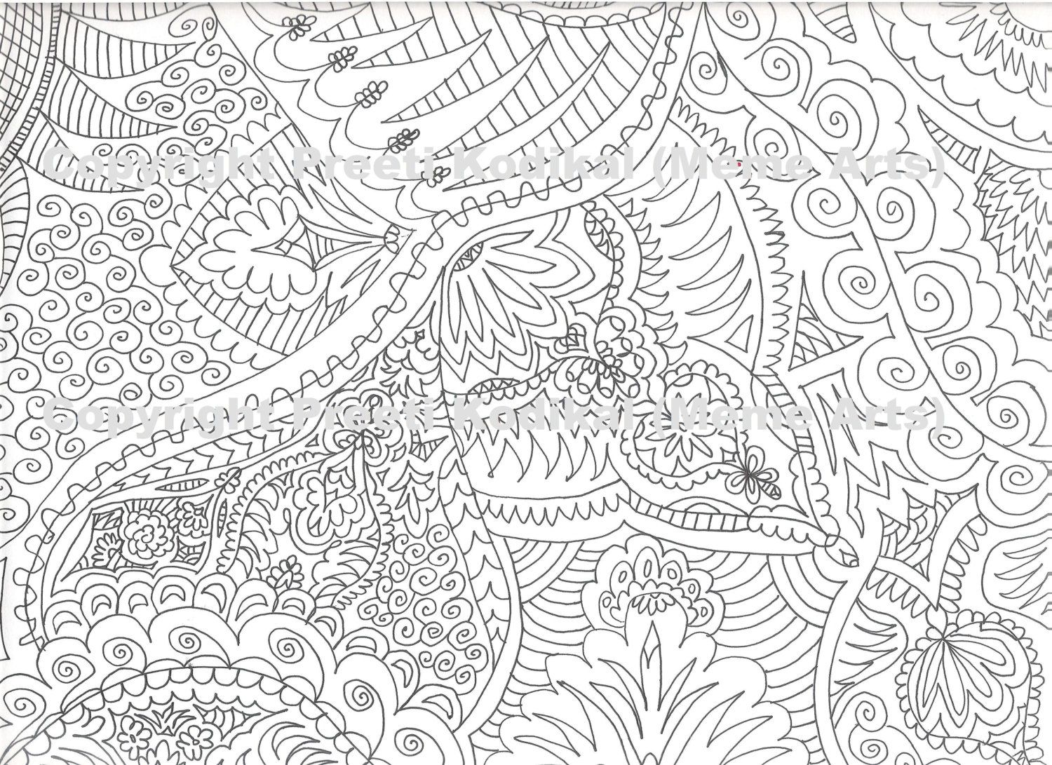 Advanced coloring page | Adult Coloring Pages... Free to Print ...