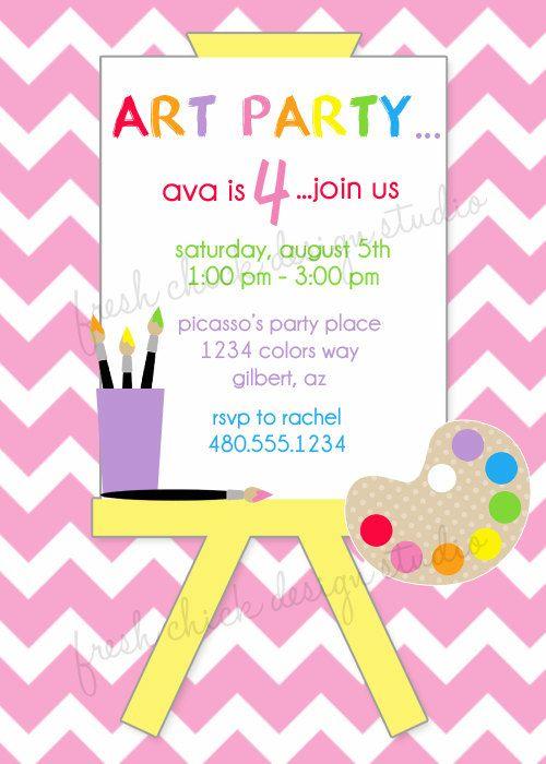 Such a cute invitation! Birthday Ideas Pinterest Art party - fresh birthday party invitation designs