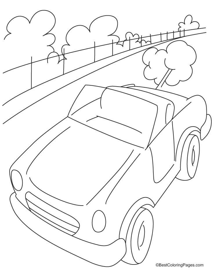 Free 1 Point Perspective Road With Buildings Coloring Pages For