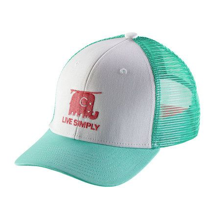 bd5143b255662 Patagonia Kids Trucker Hat - Live Simply Elephant   White