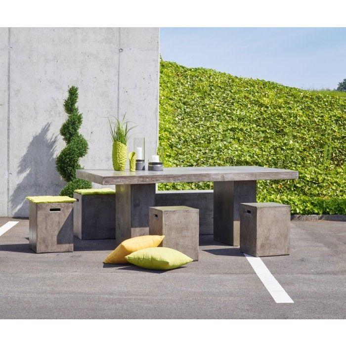 gartentisch serie sils kombinieren sie natur und architektur f r liebhaber von puristischem. Black Bedroom Furniture Sets. Home Design Ideas