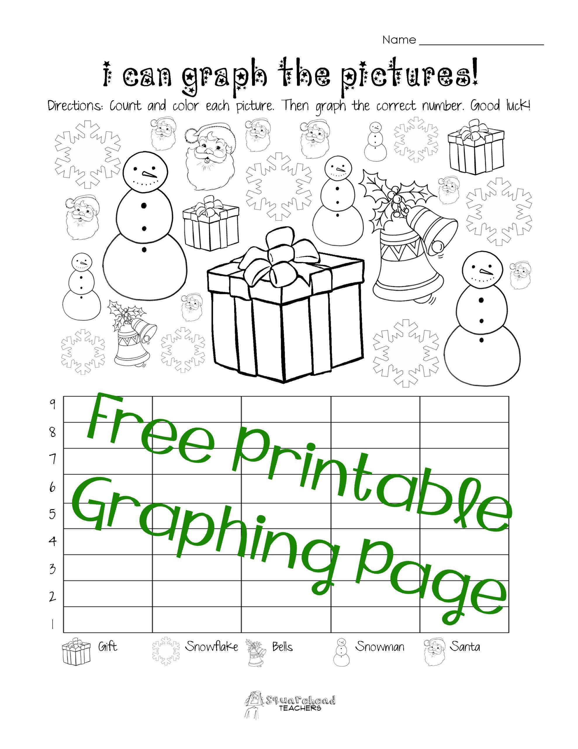 Printable Christmas Worksheets For Kindergarten Worksheet For Kindergarten Graphing Worksheets Christmas Math Worksheets Free Printable Math Worksheets