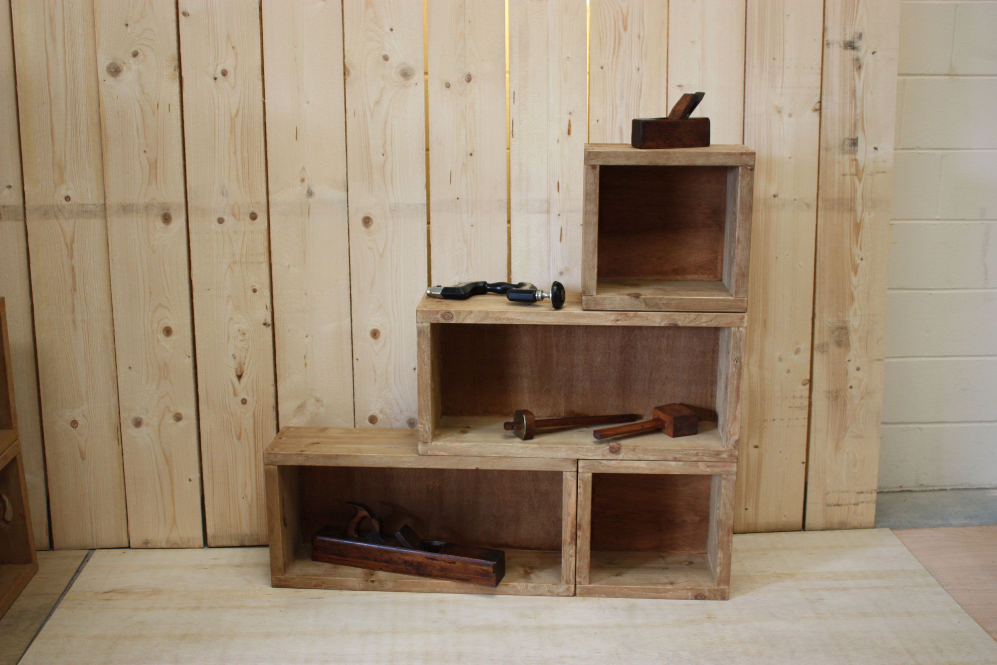 Stackable Wooden Bo Hand Made From Reclaimed Timber The Two Diffe Size Can Be Stacked In Many Ways To Provide