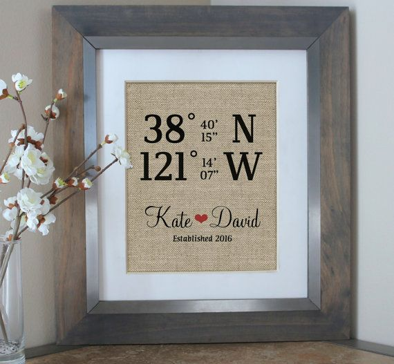 Typical Cash Wedding Gift: Housewarming Gift Home Sign Latitude Longitude Sign House