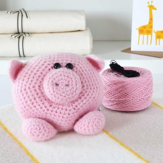 Little Pig Amigurumi Crochet Kit,Amigurumi Crochet,Amigurumi Kit,Crochet Kit
