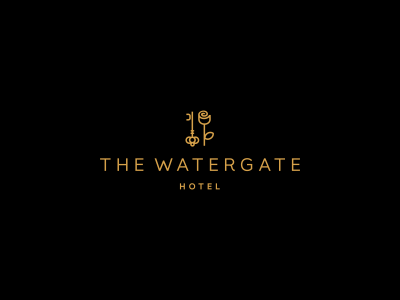 Unused logo design for The Watergate Hotel by Deividas Bielskis