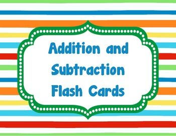 addition subtraction flash cards teaching addition flashcards kindergarten flash cards. Black Bedroom Furniture Sets. Home Design Ideas