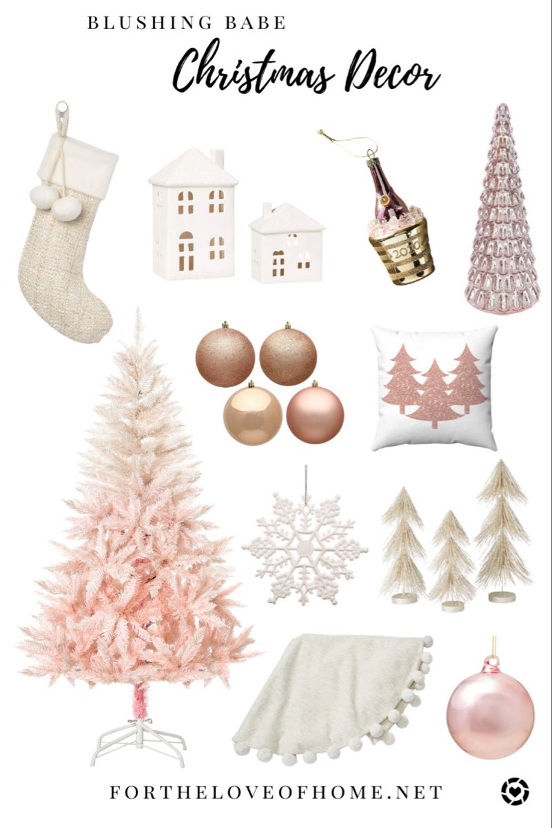 Blush Christmas Decor In 2020 Pink Christmas Decorations Christmas Decorations Amazon Christmas Decorations