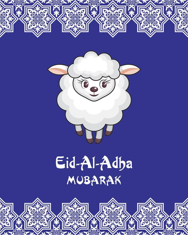 Eid al adha greeting card with the image of the sacrificial lamb eid al adha greeting card with the image of the sacrificial lamb m4hsunfo
