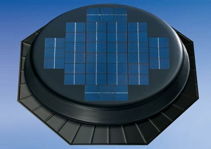 Solar Star Rm 1600 Boasting Added Power The Rm 1600 Is An Option For Steep Pitched Roofs Large Attic Solar Powered Attic Fan Solar Attic Fan Solar Gable Fan