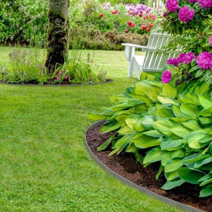 Rasenkante Edelstahl tipps für eine pflegeleichte rasenkante garden