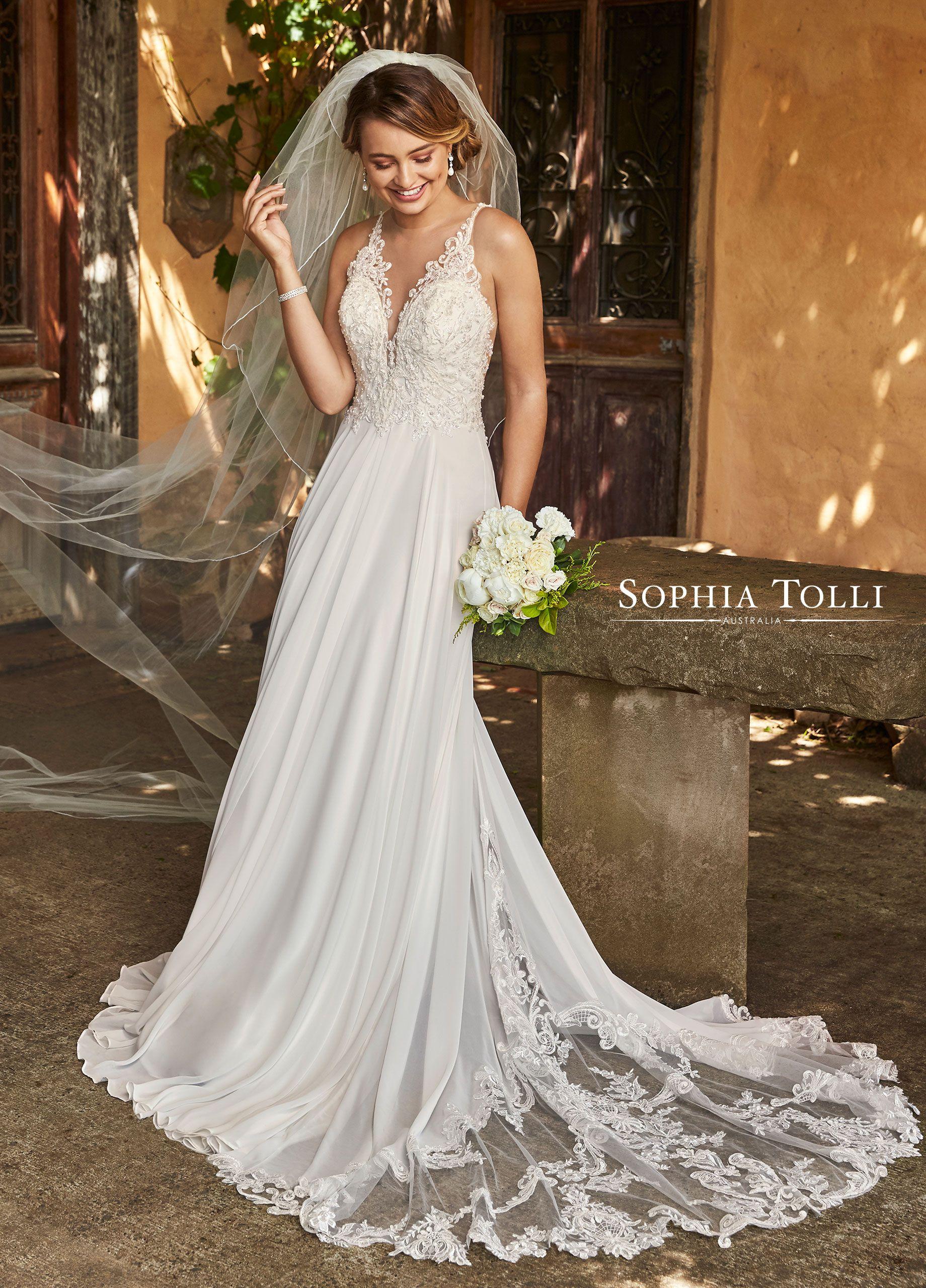 Sophia Tolli Wedding Gowns Y21979 Christabel Rustic Wedding