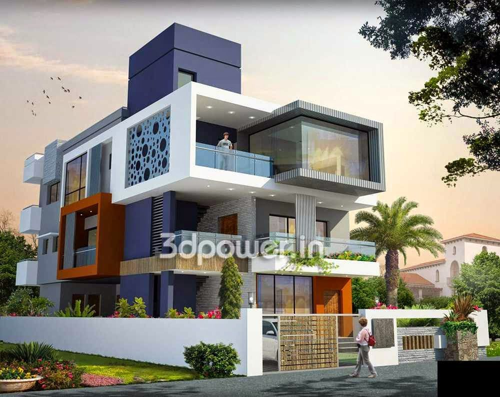 Awesome Ultra Modern Home Designs: House 3D Interior Exterior Design Rendering