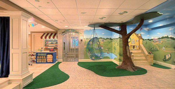 24 id es d coration de salles de jeux pour enfants jeux enfants idee deco et jeu. Black Bedroom Furniture Sets. Home Design Ideas