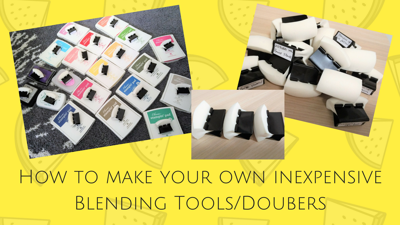 How to make your own Blending Tools Card making