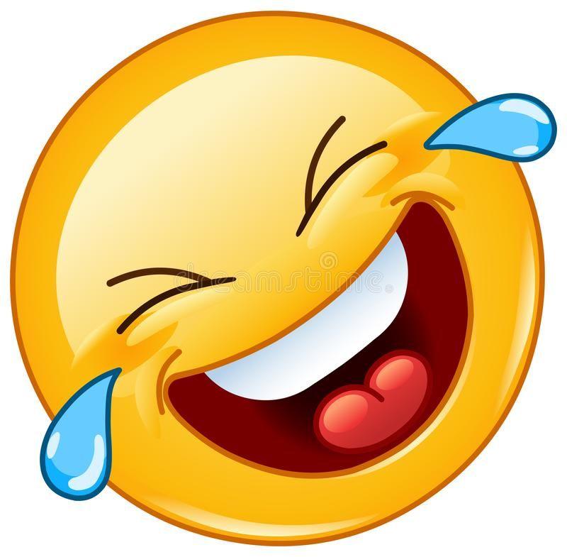 Rueda en el piso que ríe con el emoticon de los rasgones