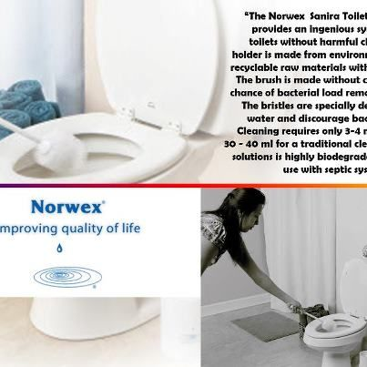 Sanira Toilet System saves your time and money! Free yourself from the cleaning aisle and invest in Norwex products!  The Norwex Sanira Toilet Brush System provides an ingenious system to clean toilets without harmful chemicals.The cleaning solution is vegetable-based with coconut oil and a naturally occurring sugar surfactant. It is neither poisonous nor corrosive and breaks down within 48 hours compared to other solutions that need as much as 30 days. It is safe for use with septic…